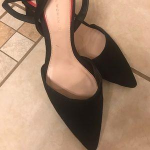 ZARA Women Black Suede Shoes Size 8